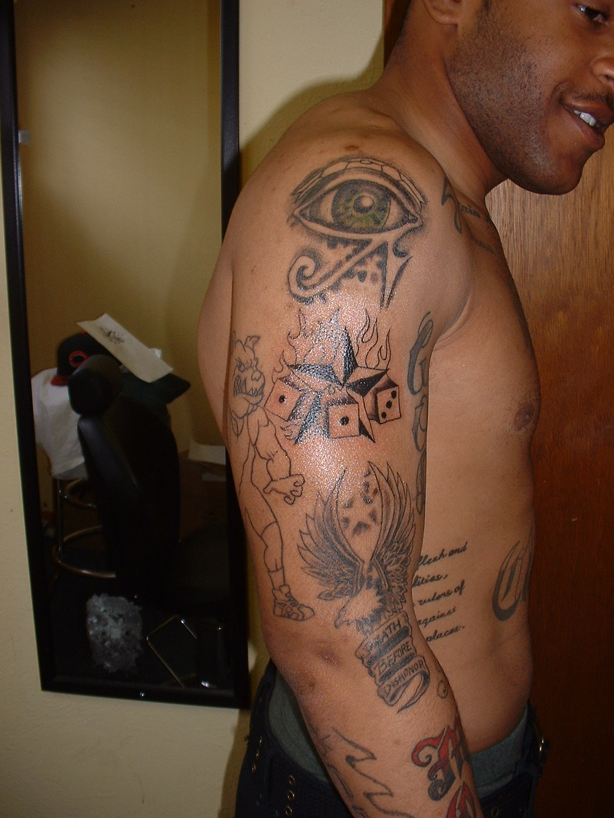 full arm tribal tattoo designs title=